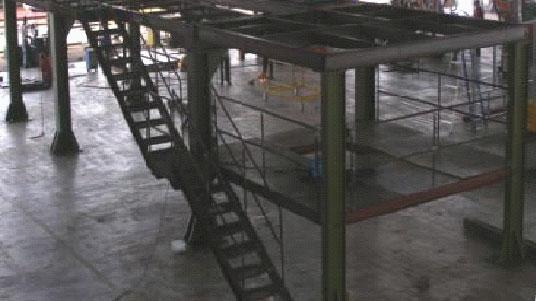 Design, Fabricate & Install Steel Double Decker Platform
